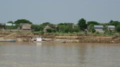 Fishing villages clos to the Ayeyarwady river, Myanmar, Burma Stock Footage