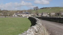 Dry Stone Walls at Litton, Derbyshire, England, Uk, Europe Stock Footage