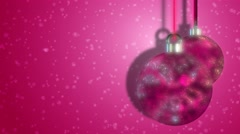 Pink Patterned Christmas Bauble Festive Abstract Motion Background - stock footage