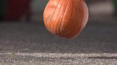 Pumpkin Drop at 480fps Stock Footage