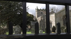 Stock Video Footage of Parish Church at Beeley, Beeley, Derbyshire, England, Uk, Europe