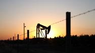 Stock Video Footage of Oil Pump Field