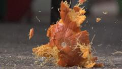 Pumpkin Smash at 480fps - stock footage