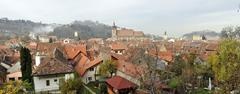 Brasov old city panorama Stock Photos