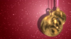 Golden Patterned Christmas Bauble Festive Abstract Motion Background - stock footage