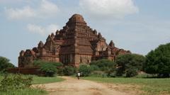 Dhammayan Gyi Temple in Bagan, Myanmar, Burma Stock Footage