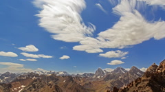 Summer landscape. Clouds blurred. TimeLapse Stock Footage