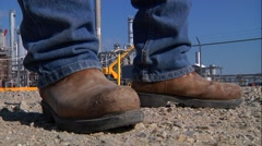 Steel Toe Shoes Stock Footage