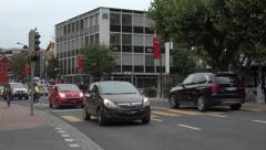 Switzerland Saint Gallen city busy traffic road fast 4K 127 Stock Footage