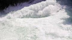 Water flow in the mountains. Tajikistan. Iskanderdarya Stock Footage