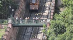 Gellert Funicular, Budapest, Hungary, Europe Stock Footage