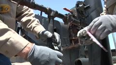 Lock out oil well engine Stock Footage