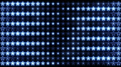 Led Snowflakes 01 Stock Footage