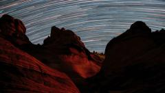 Star Trails Over Arizona Sandstone The Wave Stock Footage
