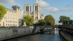 Paris Notre Dame Time Lapse Stock Footage