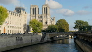 Stock Video Footage of Paris Notre Dame Time Lapse