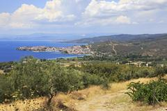 Neos Marmaras on the Aegean coast. Stock Photos