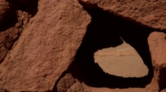 Close up at the Ancient Ruins of Pukara Stock Footage