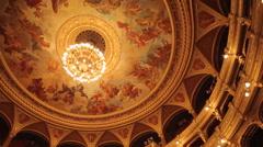 Opera Interior, Budapest, Hungary, Europe Stock Footage
