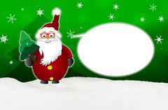 Funny santa claus comic with glasses balloon optician Stock Illustration