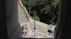 Fishermen's Bastion (Halaszbastya), Budapest, Hungary, Europe Stock Footage