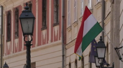 Colourful Streets, Buildings and Signs on Castle Hill District, Budapest Stock Footage