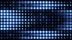 Led Snowflakes 04 Stock Footage
