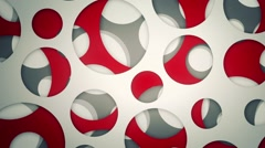 Background with spinning surfaces with holes. loop Stock Footage