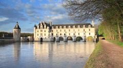 Chateau de Chenonceau. Indre-et-Loire, France, Europe Stock Footage