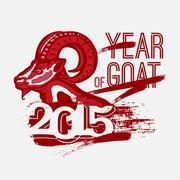 Year of Goat 2014. vector Piirros
