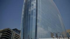 Flame Towers in Baku, Azerbaijan Stock Footage