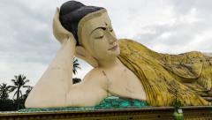 Lying Buddha Mya Tha Lyaung Hyperlapse Stock Footage