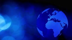Blue business globe rotating background 4K Stock Footage