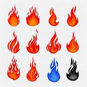 Fire Icon Vector Stock Illustration