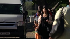 Taxi queue,South Africa Stock Footage