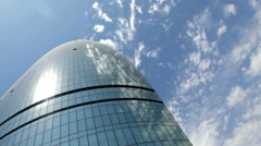 Flame Tower and the sky in Baku, Azerbaijan Stock Footage