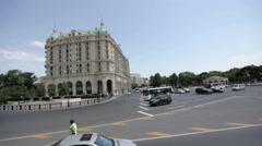 State oil company in Baku, Azerbaydan Stock Footage