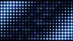Led Snowflakes 09 Stock Footage