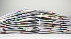 Pile of paperwork overload Stock Photos