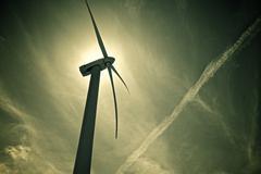 wind energy - stock photo