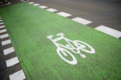 cycleway - stock photo