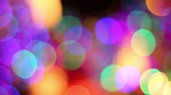 A Colorful Rack-Focus Shot of Christmas Lights Stock Footage