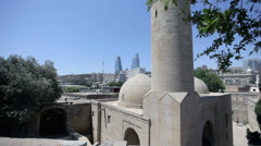 Palace of the Shirvanshahs in Baku, Azerbaijan Stock Footage