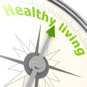 Healthy living compass Stock Illustration
