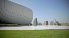 Heydar Aliyev Center in Baku, Azerbaijan Stock Footage