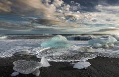 Melting Icebergs in the Sea - stock photo