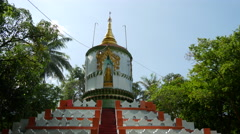 Pagoda in Pathein, Myanmar, Burma Stock Footage