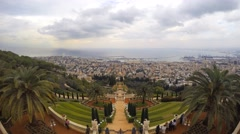 A beautiful Time lapse of the Bahai Gardens in Haifa Israel. Stock Footage