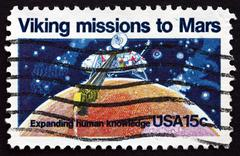Postage stamp USA 1978 Viking 1, Robotic Space Probe - stock photo
