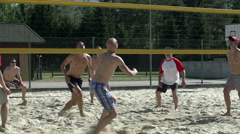 Clip of offence in beach-volley - stock footage